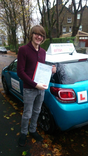 Huge congratulations go to Josh who passed his test at the first attempt in Buxton on 6th November Great drive as I have never seen rain like that before Torrential Josh unfortunately broke his hand 5 weeks ago the day before his initial test so its been worth the wait He joins that exclusive club who have passed both theory and practical first time Its been an absolute pleasure meeting