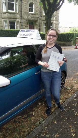 A hat-trick of first time passes in the last week and another massive well done to Kate who passed her driving test today in Buxton at the first attempt Itacute;s been an absolute pleasure taking you for lessons Enjoy your independence and stay safe