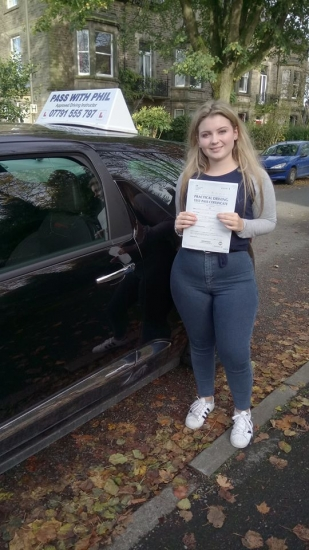 Huge congratulations to Katie who passed her driving test today in Buxton 6th November A well controlled and safe drive well done Itacute;s been an absolute pleasure taking you for lessons and helping you achieve your goal Enjoy your independence and freedom in your new car and stay safe