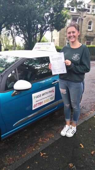 Out with the green and in with the pink Huge congratulations to Kayleigh who passed her test today in Buxton and with only 6 minor faults Itacute;s been an absolute pleasure taking you for lessons and helping you achieve your goal Enjoy your independence and stay safe