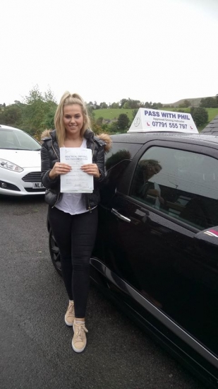 Huge congratulations go to Lucinda who passed her driving test today in Buxton and with only 2 driver faults a great drive well done Itacute;s been an absolute pleasure taking you for lessons and helping you achieve your goal Enjoy your independence and stay safe