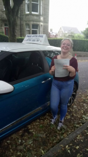 Massive congratulations to Lucy who passed her driving test today in Buxton at the first attempt and with only 4 driver faults She joins the exclusive club of passing both theory and driving test first time<br /> <br /> Itacute;s been an absolute pleasure taking you for lessons enjoy your independence and stay safe