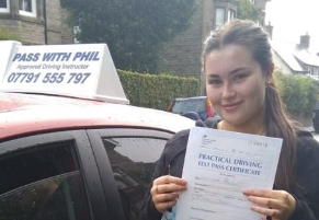 'I passed my test last week with Phil and I couldn't have done it without him. He's so helpful in the car and out, going through things properly and always asking questions if you don't understand. He sends handouts after every lesson which helped me massively in improving my driving. He gave me extra help to prepare for my theory too. Phil does everything he can to make sure you're happy