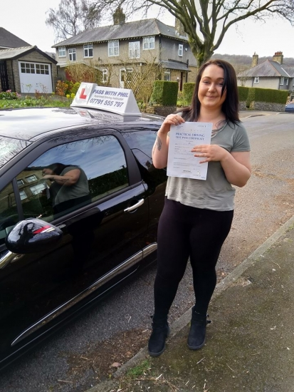 Huge congratulations go to Natalie who passed her driving test this morning in Buxton at the first attempt and with only 3 driver faults. She joins the exclusive club of passing both theory and driving tests first time. It´s been an absolute pleasure taking you for lessons. Enjoy your independence and stay safe 😊