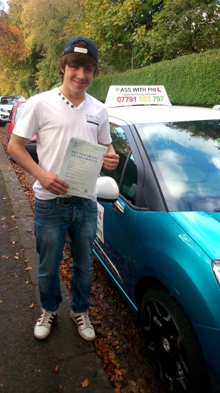 Massive congratulations to Nathan who passed his driving test today in Buxton at the first attempt and with only 4 minor faults He joins that exclusive club of passing both theory and driving test first time Great drive today well done Its been great teaching and weve had a great laugh along the way Enjoy your independence and stay safe Thanks again for choosing Pass With Phil Driving Scho