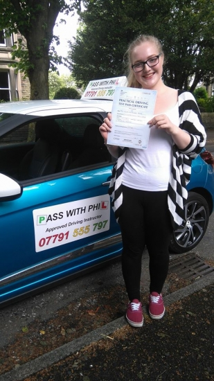 Huge Congratulations to Olivia who passed her driving test today in Buxton and with only 2 driver faults Itacute;s been an absolute pleasure taking you for lessons and helping you achieve your goal Enjoy your independence and stay safe