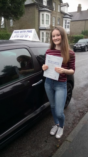 A great first time pass and early Christmas present for Rachel Halloween strawberry who passed her driving test in Buxton today 20th December 2017 She joins the exclusive club of passing both theory and driving test first time Itacute;s been an absolute pleasure taking you for lessons and helping you achieve your goal Enjoy your independence and stay safe