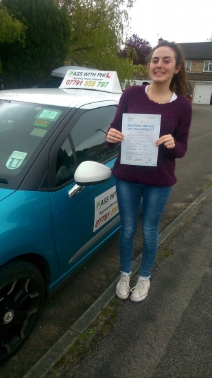Huge congratulations go to Rebekah who passed her driving test today in Buxton22nd May and with only 2 faults A lovely controlled drive considering you were so nervous Iacute;ve loved every minute of our lessons and itacute;s been great helping you achieve your goal Best of luck to you enjoy your independence and stay safe