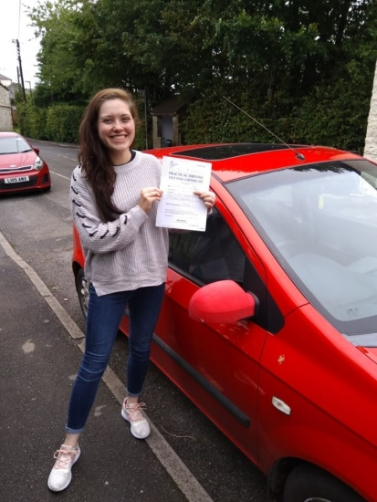 Huge congratulations go to Rebekka, who passed her driving test today in Buxton at the first attempt and with only 4 driver faults.<br />