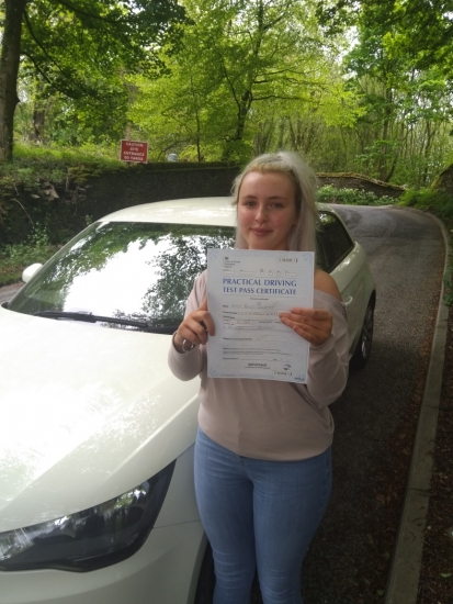 Huge congratulations go to Rosie, who passed her driving test today in Buxton at the first attempt. You managed to control the nerves and had a great drive, well done.<br /> It´s been an absolute pleasure taking you for lessons, enjoy your independence and stay safe