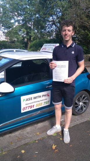 Huge congratulations to Sam who passed his driving test today in Buxton29th August and with only 4 driver faults Great drive well done Itacute;s been an absolute pleasure taking you for lessons and helping you achieve your goal Enjoy your independence and stay safe