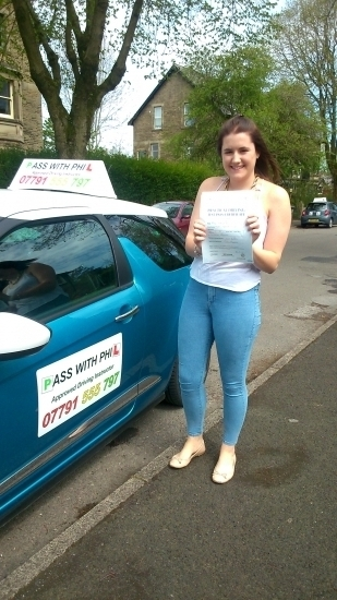Massive congratulations to Sharna who passed her driving test today in Buxton at the first attempt and with only 6 minor faultsI know you were quite nervous going into it but handled the nerves very well and had a great drive Itacute;s been great meeting you and helping you achieve your goal Enjoy the driving enjoy your independence and stay safe Take care