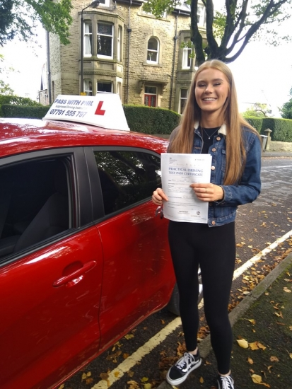 Massive congratulations go to Stevie, who passed her driving test today in Buxton at the first attempt and with only 3 driver faults. AND BREATH!!!! ðŸ˜�<br />