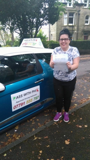 Out with the green and in with the pink Huge congratulations to Summer on passing her driving test this morning in Buxton8th September at the first attempt and with only 3 driver faults She joins that exclusive club of passing both theory and practical first time Itacute;s been an absolute pleasure taking you for lessons and helping you achieve your goal Enjoy your independence and stay saf