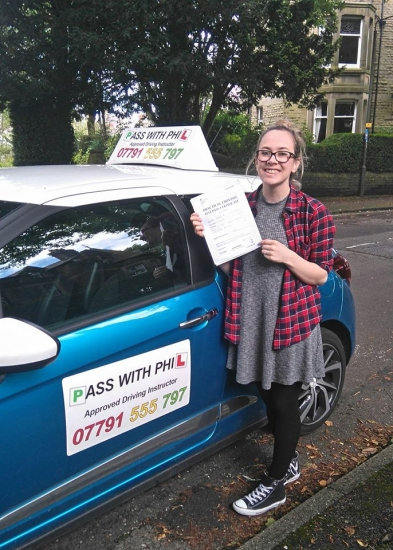 Another first time pass Congratulations to Tamsin who passed with only 2 driver faults today in Buxton 18th July Triple joy for Tamsin as her boyfriend Jack passed first time with me a couple of months ago and they have also recently got engaged to be married Itacute;s been an absolute pleasure taking you for lessons and helping you achieve your goal Stay safe and have a great wedding day