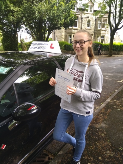 Yayyy, 😁, Huge congratulations go to Zoe, who passed her driving test today in Buxton. All the hard work has paid off. Its been an absolute pleasure taking you for lessons. Enjoy your independence and stay safe 😊