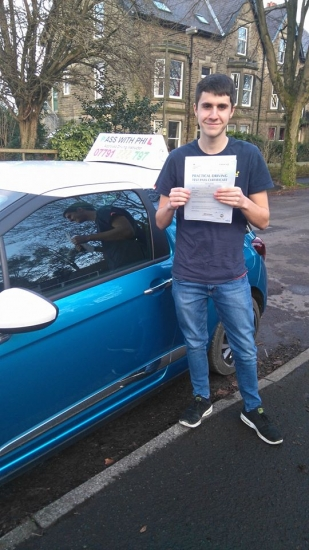 Massive congratulations to Callum who passed his driving test today in Buxton20th December at the first attempt and with only 4 driver faults a nice early Christmas present Itacute;s been an absolute pleasure taking you for lessons Enjoy your independence and stay safe
