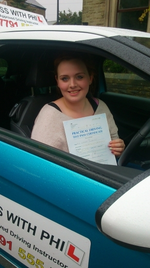 Huge congratulations go to Kim who passed her driving test today in Buxton at the first attempt and with only 3 minor faults She joins that exclusive club of passing both theory and pracrical tests first time A great drive well done Itacute;s been an absolute pleasure meeting you and helping you achieve your goal Enjoy your independence and stay safe See ya soon for motorway lessons