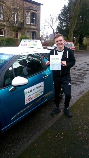 Huge congratulations go to Lewis who passed his test today in Buxton at the first attempt and with only 2 driver faults Itacute;s been great meeting you and glad I could help you achieve your goal Enjoy your independence and stay safe