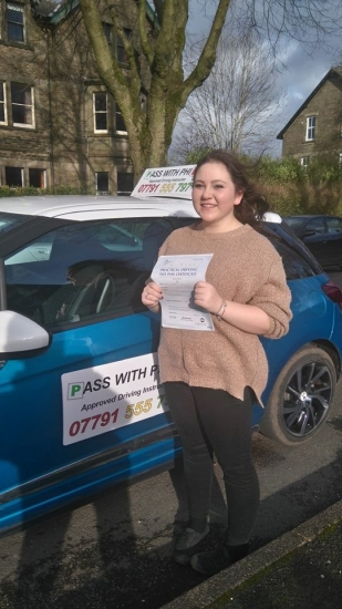 Congratulations to Meg on passing her driving test today in Buxton at the first attempt and with only 5 faults She joins that exclusive club of passing both theory and practical first time Itacute;s been an absolute pleasure taking you for lessons and helping you achieve your goal Enjoy your independence and stay safe Happy driving