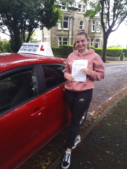Out with the green and in with the pink 😊. Huge congratulations go to Olivia on pass her driving test today in Buxton and with only 3 driver faults. It´s  been an absolute pleasure taking you for lessons, enjoy your independence and stay safe, ðŸ'�