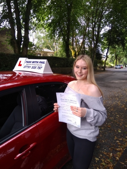 Huge congratulations go to Shannon, who passed her driving test today in Buxton and with only 4 driver faults.<br /> It´s been an absolute pleasure taking you for lessons, stay safe and good luck with your A level results