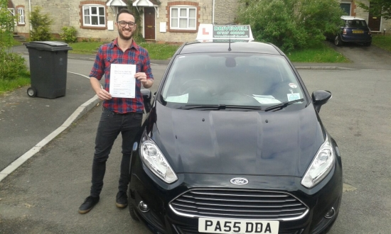 Daniel Brown - a proud recent Father chuffed to be holding his Pass Certificate after passing his test first time today It was a challenge combining lessons with work a new arrival and the sleepless nights Daniel had an almost faultless drive with only one driver fault Congratulations and well done again Hope to see you on the road Salvina 15th May 2015