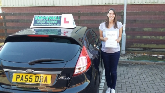 Gemma Hubbard so thrilled to be holding her Pass Certificate after passing her Driving Test today Under extreme pressure 7 months pregnant with a little boy in the bump she can now drive her little girl to school Exceptional safe drive despite being nervous with only one driver fault Congratulations and well done again Salvina 30th October 2017