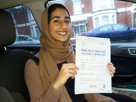 Maryann Shahid very thrilled to be holding her Pass Certificate after passing her Driving Test today A smooth confident drive with few driver faults A pleasure to teach listened on her lessons and always gave 100 A great start to 2018 for Salvina amp; Drivewell Driving Academy Looking forward to seeing you for Pass Plus Congratulations amp; good luck with your driving Salvina Drivewe
