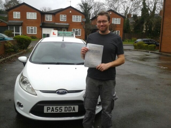 Nathan Chinchen proudly holding his pass certificate after passing first time today A great result and what a day to pass A fantastic achievement after having most lessons late evening after a hard days work A treat to drive in daylight What difference this will now make to your career prospects Well done again and congratulations once more Good luck and enjoy your driving Salvina an