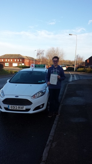 Oliver Hamill proudly holding his Pass Certificate after passing first time today An excellent drive highly commended by the examiner with only 1 driver fault A fantastic result combining lessons with Uni study and Christmas festivities in addition to quickly adjusting positively to the new car Well done and congratulations again Enjoy your celebrations See you in the holidays next year fo
