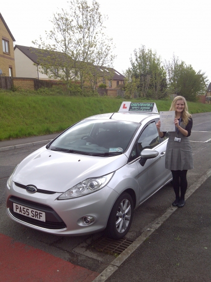 Holly North proudly holding her Pass Certificate after passing her Driving Test today A fantastic drive to witness with only one driver fault A great result after all your determination and positive attitude and rising to the challenge Congratulations again and I look forward to seeing you for Pass Plus soon Enjoy your driving and keep safe 13th May 2013