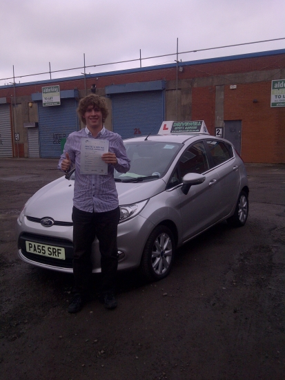 Proudly holding his Pass Certificate after a very safe drive with 2 driver faults OCT 2012