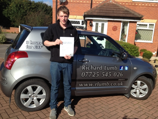 Rich is a great instructor very easy to get on with passed first time with only 4 faults