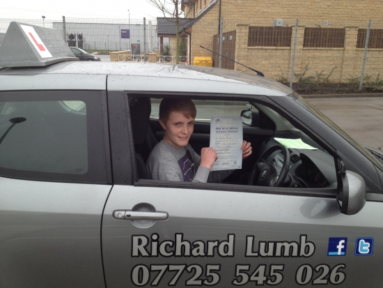 Just passed my driving test with Richard<br />