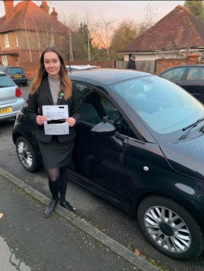 Passed 4/12/20<br /> Instructor Sara Bradley<br /> 0 Faults