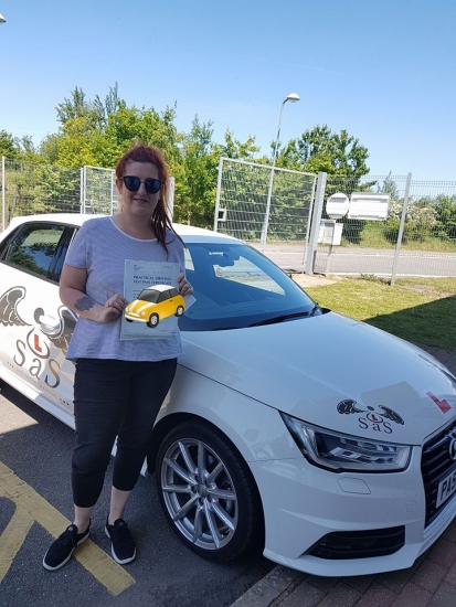 Passed 1st Time 5 Faults<br /> Instructor Sharon Cox<br /> 24/05/2018