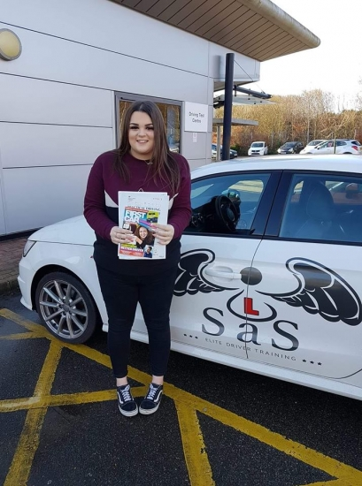 From North Walsham<br /> Passed 1st time 17/01/2019<br /> Instructor Sharon Cox