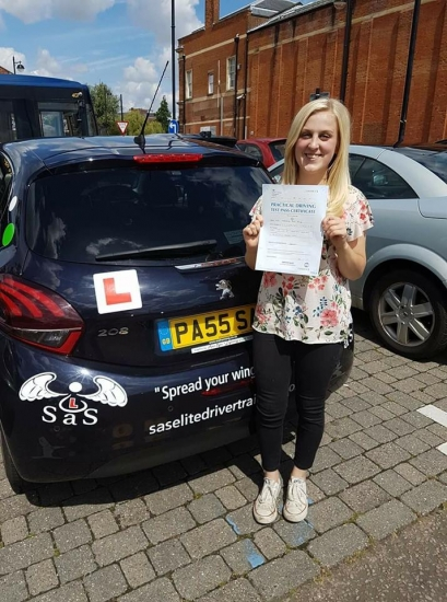 Passed her driving test on<br />