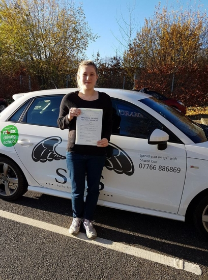 Passed 24/11/2017<br /> 2 Minor Faults<br /> Instructor Sharon Cox