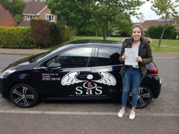 Passed 1st Time  with 0 Faults<br /> 16/05/2018<br /> Instructor Sara Bradley