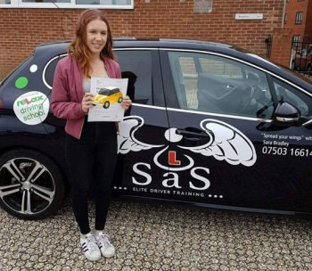 Passed 1st Time 3 Faults<br /> Instructor Sara Bradley<br /> 04/06/2018