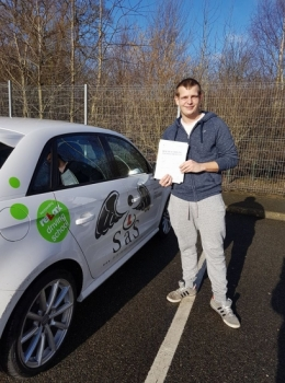 Passed 2/2/2018<br /> 3 Minor Faults<br /> Instructor Sharon Cox