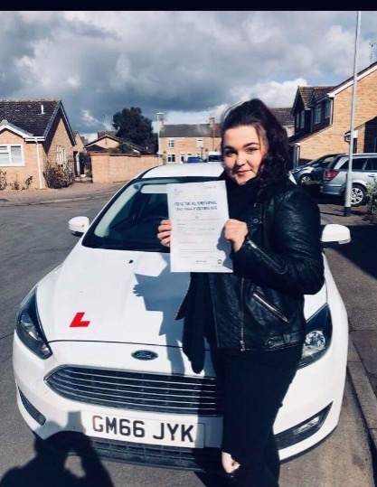 Congratulations to Georgia on passing your test