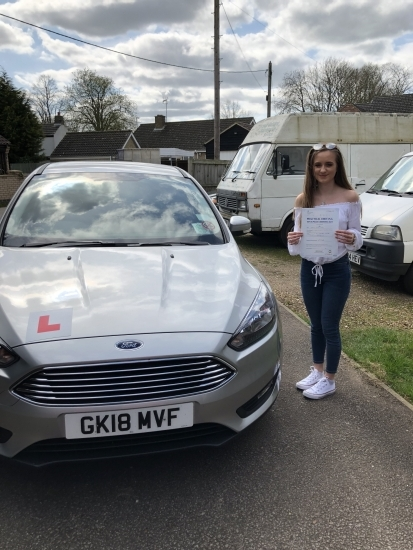 Congratulations to Shania on passing your driving test
