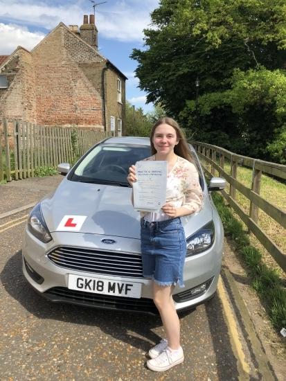 Congratulations to Katie on passing your driving test.
