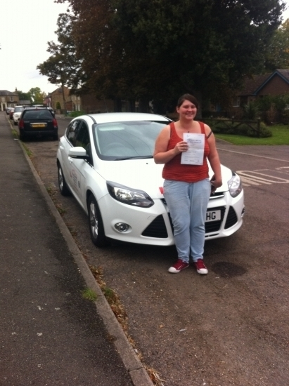 Congratulations to Amy from Manea who passed her test today 210915