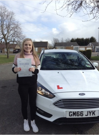 Congratulations to Abi on passing your test:))