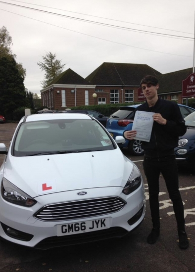 Congratulations to Dan on passing your test.