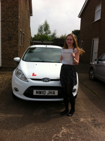 Congratulations to Ellie from March who passed her test on 28th April